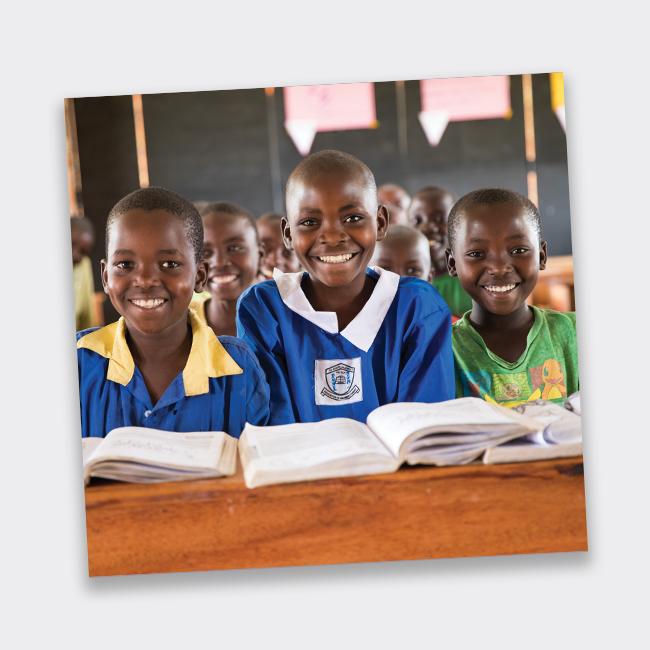 Image of children at school desk