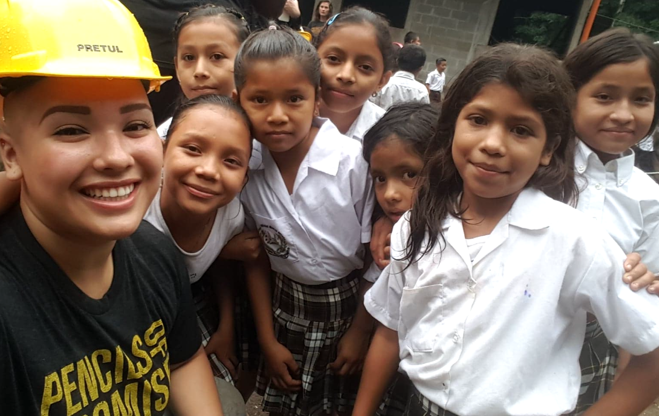 Danielle with children in Guatemala