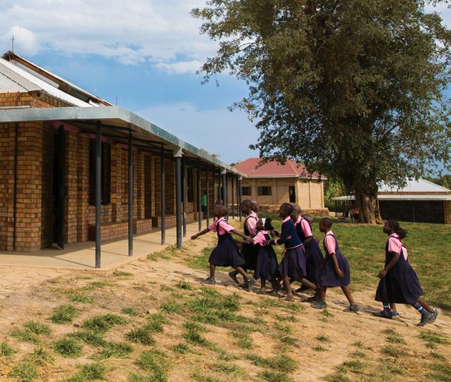 School kids in Uganda
