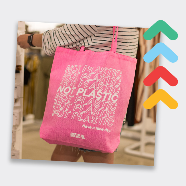Image of Not Plastic tote bag