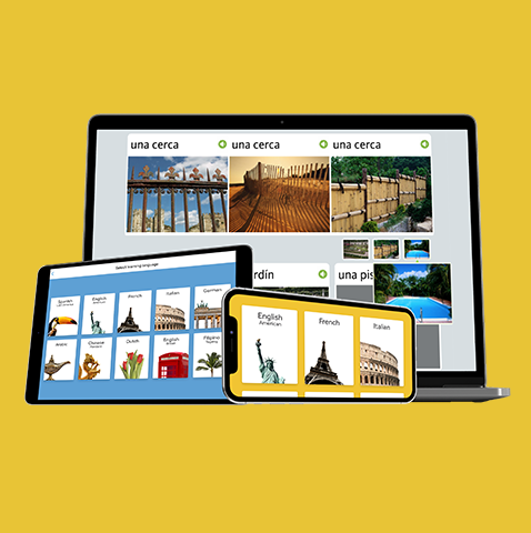 Rosetta Stone Language packs being viewed on iPad